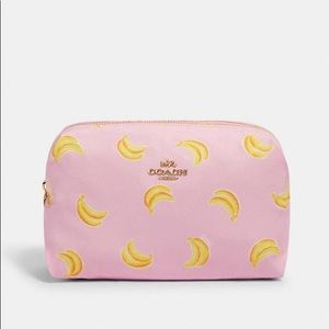 Coach Bags - Large Boxy Cosmetic Case With Banana Print
